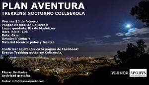 Trekking nocturno por Collserola